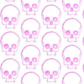 Light Fuschia Skull Print