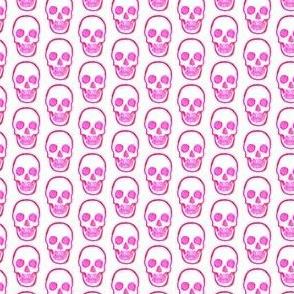 Pink Skull Doodle Print