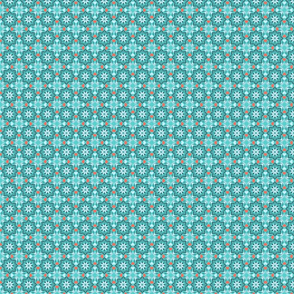 Moroccan garden blue small