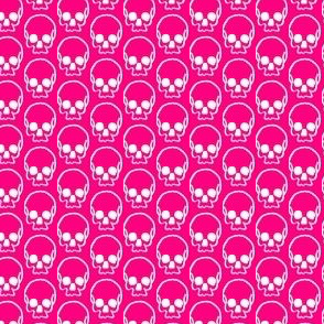 Pink Skull Doodle