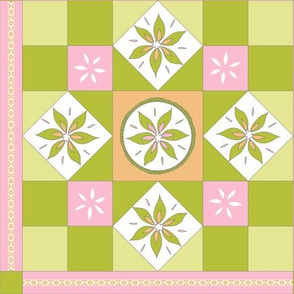 I Spy Southwest Cactus Flowers Quilt - Desert Pink, Desert Orange and Cactus Greens