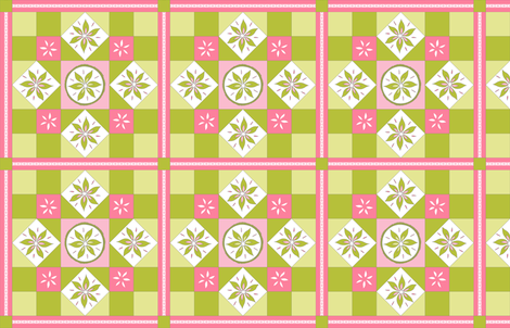 I Spy Southwest Cactus Flowers Quilt - Desert Sunrise Pinks and Cactus Greens