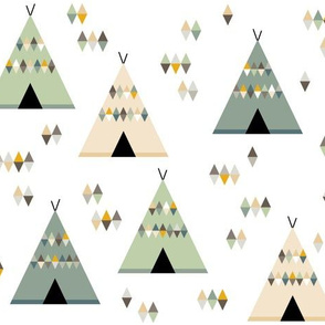 Teepees in green