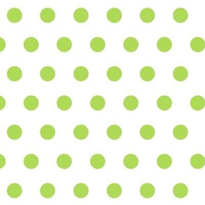 Cottage-polka dots - key lime
