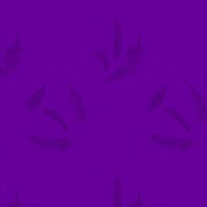 Black Feathers on Purple
