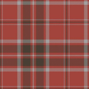 MacDonald red tartan - weathered colors