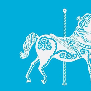 Carousel Horse in Spectacular Sky