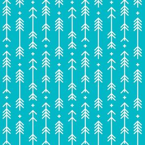 cross plus arrows surfer blue