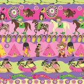Pink Pueblo Wonky Horizontal Stripe