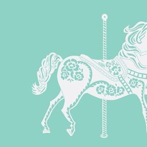Carousel Parade in Sweet Seafoam