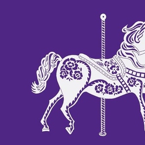 Carousel Horse in Popular Purple