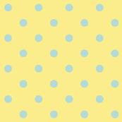 Blue polkadots - yellow base