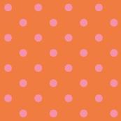 Pink polkadots - orange base