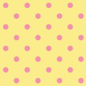 Pink polkadots - yellow base