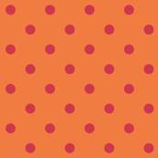 Red polkadots - orange base