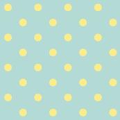 Yellow polkadots - blue base