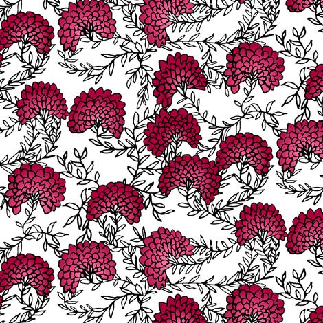 Red & White Flowering Vines