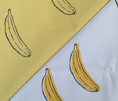 Bananas Yellow and Black on White Random Layout