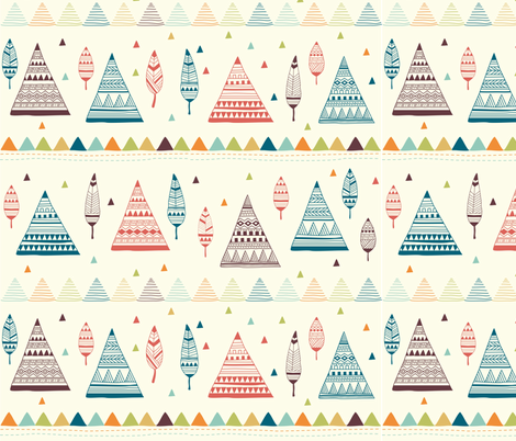 teepee and feather trees