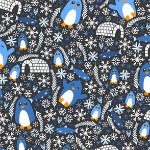 Penguin Wonderland (Dark Blue)