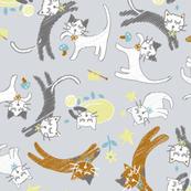 soft cat gymnastics-gray