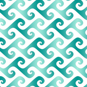 spiral waves in surfing teal