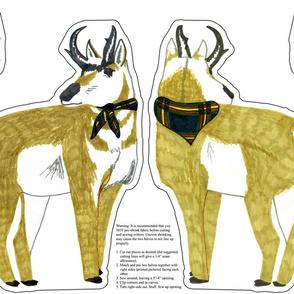 Extra Large Pronghorn Antelope Plushie