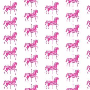 Carousel Horse in Miniature Magenta