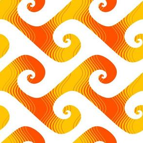 XL stripey waves - solar flare