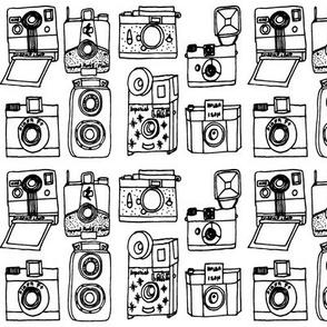 Vintage Cameras - B&W by Andrea Lauren