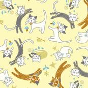 soft cat gymnastics- yellow