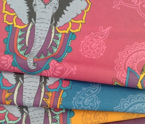 Elephants in Saffron