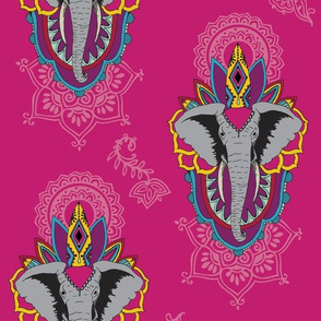 Elephants in Pink