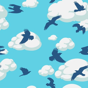 Birds in the sky