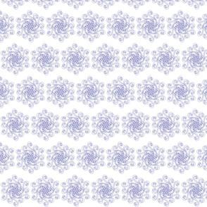 Geometric flower blue (large)