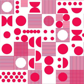 Dots - Bright Pink by Andrea Lauren