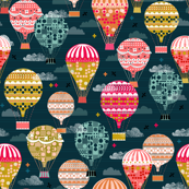 Hot Air Balloons - Vintage Retro-Inspired Flying Machines by Andrea Lauren