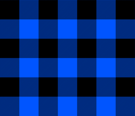 Blue And Black Buffalo Check Fabric Weavingmajor