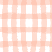 Watercolor Check in Coral