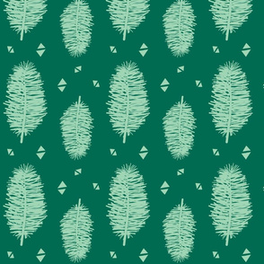 mint feathers