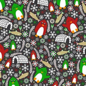 Christmas Penguin Wonderland (Dark)
