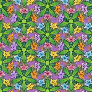 five fold floral