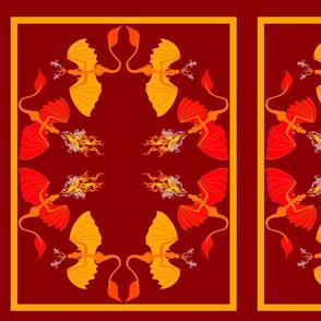 fire dragons pillow