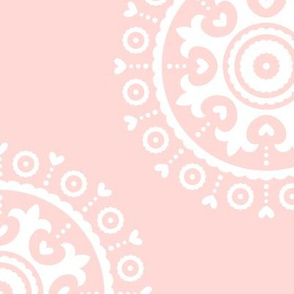 mod baby » suzani white on coral LG