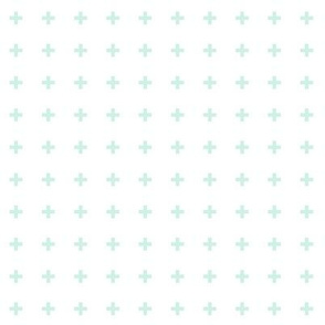 mod baby » tiny crosses mint light