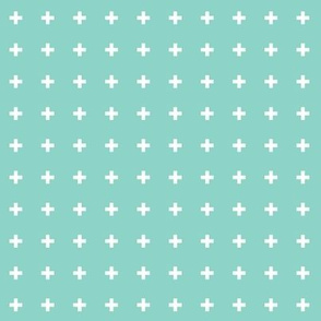 mod baby » tiny crosses on mint