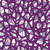 Large Stripes, Dots & Gems! in Purple