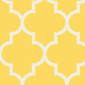 quatrefoil lg 2x's yellow + cream
