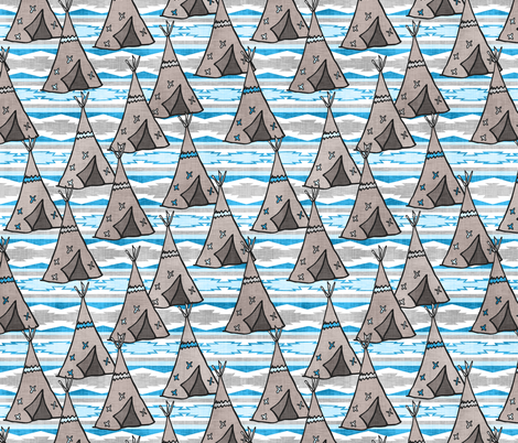 Blue Southwestern Teepees