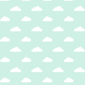 mod baby » tiny clouds on mint light